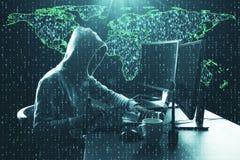 计算和phishing的概念 免版税库存照片