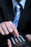 计算器使用 免版税库存图片