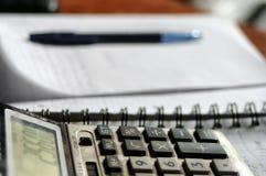 计算器和会计 免版税图库摄影