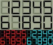 计算器和台式时钟数字 免版税库存照片