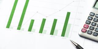 显示财政成功的企业图 免版税库存照片