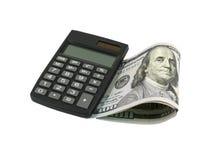 计算器和美元 库存照片