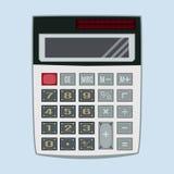 计算器在平的样式的传染媒介例证 免版税库存照片