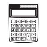 计算器在平的样式的传染媒介例证 免版税图库摄影