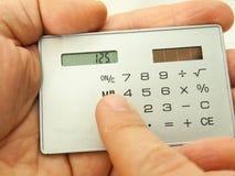 计算器在手中 免版税库存图片