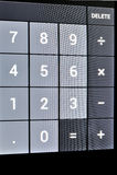 计算器屏幕接触 库存照片