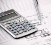计算器工资总额 免版税库存图片