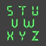 计算器数字式绿色文本 免版税图库摄影