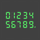计算器数字式绿色文本 库存照片