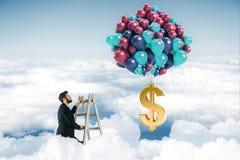 计算器概念美元利润符号 免版税库存图片