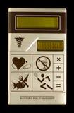 计算器电子健康 库存照片