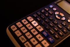 计算器的键盘的关键第八 免版税库存图片
