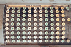 计算器税葡萄酒 库存图片