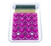 计算器紫色时髦 免版税库存照片