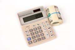 计算器美元一卷 免版税库存图片