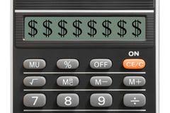 计算器美元的符号 免版税库存照片