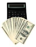 计算器美元 免版税库存照片