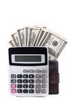 计算器美元 免版税库存图片