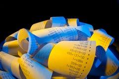 计算器计算数据条 免版税库存照片