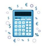 计算器象 能使用作为会计或税象  数学和计数的标志 免版税库存图片