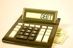 计算器负债说 图库摄影