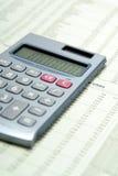 计算器财务纸张 免版税库存图片