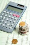 计算器财务纸张 库存图片