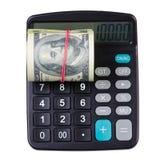 计算器金钱美元 免版税库存照片