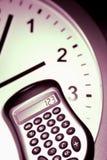 计算器clockface 免版税库存图片