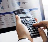 计算平衡财务会计赢利债务概念 免版税库存图片