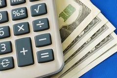 计算投资重新平衡值 免版税库存照片