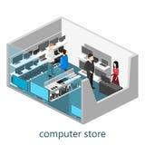 计算机专卖店等量内部  免版税库存照片