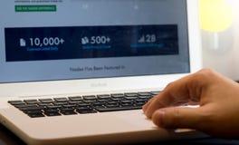 计算机个人投资家 免版税库存照片