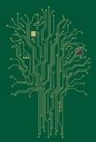 计算机主板结构树 库存图片