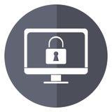 计算机互联网保安系统技术阴影 向量例证