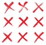 计算机交叉被生成的图象标记红色 免版税库存图片