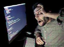 计算机人工作 增加的小故障作用 免版税库存图片