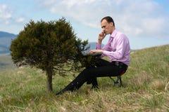 计算机人电话结构树 免版税库存照片