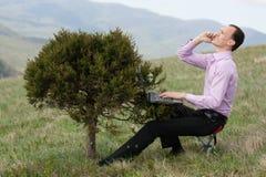 计算机人电话结构树 免版税库存图片