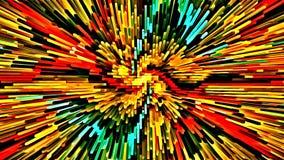 计算机例证摘要荧光的色的背景马赛克混乱刷子抚摸不同的大小画笔  向量例证
