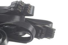 计算机供电电缆 库存照片