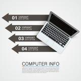 计算机信息创造性横幅的艺术 皇族释放例证
