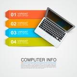 计算机信息横幅 向量例证