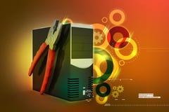 计算机修理公司概念 免版税库存图片