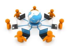 计算机全球网络 免版税库存照片