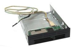 计算机前面存储卡扩展口岸盘子 库存图片