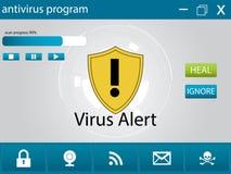 计算机反病毒程序 图库摄影