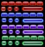 计算机发光的图标 库存照片