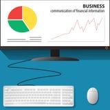 计算机和事务 库存图片