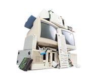 计算机和电子浪费 免版税库存图片